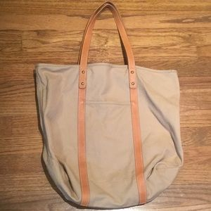 J Crew Large Canvas Tote